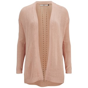 ONLY Women's Assisi Long Sleeve Cardigan - Peach Melba