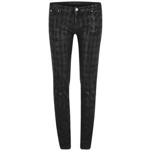 Karl Lagerfeld Women's Kate AOP Karl Head Jeggings - Black Spray