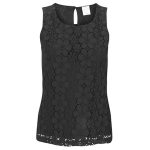 Vero Moda Women's Foral Lace Top - Black