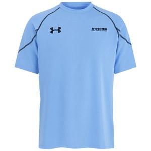 T-Shirt Tecnica Under Armour Vault da Uomo, Sky Blu/Nero