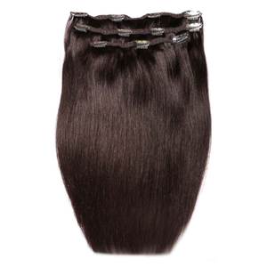 Beauty Works Deluxe Clip-In Hair-Extensions  18 Zoll - Rabenschwarz 2