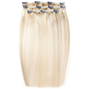 Beauty Works Deluxe Clip-In Hair Extensions 18 Inch - LA Blonde 613/24