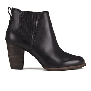 UGG Women's Poppy Heeled Ankle Boots - Black
