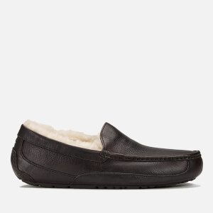 UGG Men's Ascot Grain Leather Slippers - China Tea
