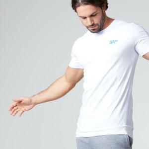 Myprotein 男士纯棉短袖长款T恤 - 白色