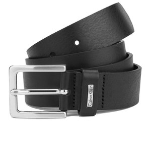 Calvin Klein Men's Mino Mino Leather Belt - Black