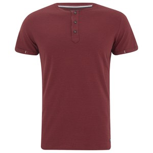 Produkt Men's OEK New Grandad Buttoned T-Shirt - Red Dahlia
