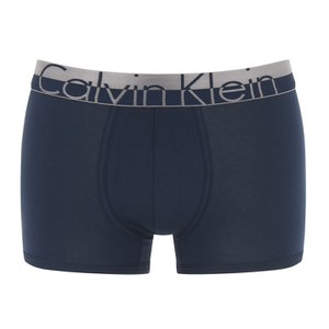 Calvin Klein Men's Magnetic Cotton Trunks - Blue Shadow
