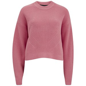 Designers Remix Women's Vato Round Cropped Sweatshirt with Rounded Sleeve - Bubble Gum