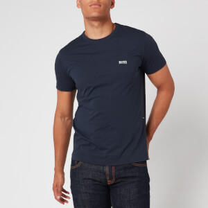BOSS Hugo Boss Men's Basic Crew Shoulder Logo T-Shirt - Navy