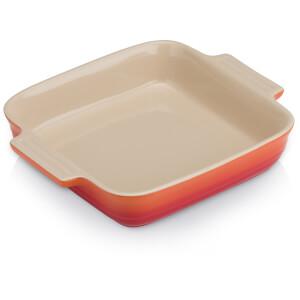 Le Creuset Stoneware Shallow Square Dish - 23cm - Volcanic