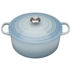 Le Creuset Signature Cast Iron Round Casserole Dish - 20cm - Coastal Blue