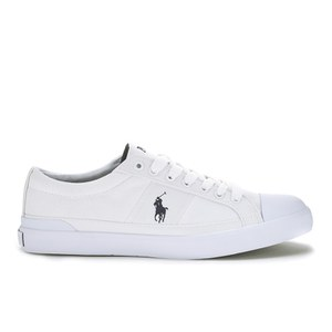 Polo Ralph Lauren Men's Churston-Ne Canvas Trainers - Pure White