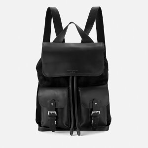 Aspinal of London Shadow Rucksack - Black Nubuck