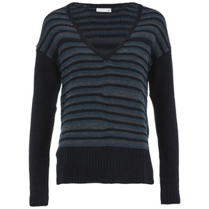 SuperTrash Women's Kaiden Stripe Jumper - Apline Black