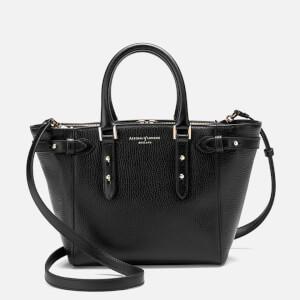Aspinal of London Women's Marylebone Mini Tote Bag - Black Pebble