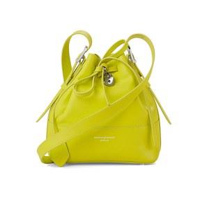 Aspinal of London Women's Padlock Mini Duffle Bag - Chartreuse