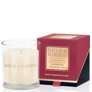 Baylis & Harding Mosaic Midnight Pomegranate and Elderflower Single Wick Candle