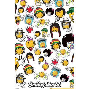 Smiley Music Genres - 24 x 36 Inches Maxi Poster