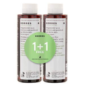 Korres Aloe and Dittany Shampoo 1 + 1 (Worth £20)