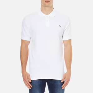 Paul Smith Jeans Men's Basic Pique Zebra Polo Shirt - White