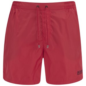 9efb0adaf6 BOSS Hugo Boss Men's Barracuda Swim Shorts - Red | Buy Online | Mankind
