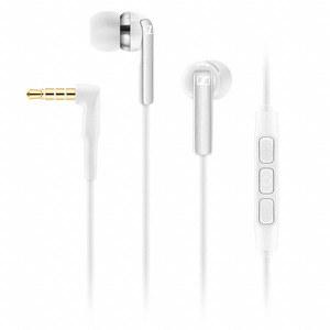 Sennheiser CX 2.00 Canal Earphones Inc In-Line Remote & Mic - White