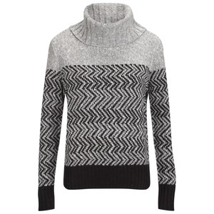 ONLY Womens Mara Rollneck Jumper - Light Grey Melange