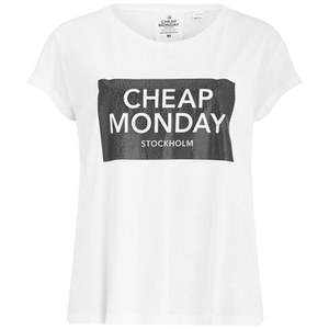Cheap Monday Women's Have Cracked Slogan T-Shirt - White