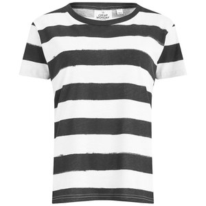 Cheap Monday Women's Smudgey Stripe T-Shirt - White