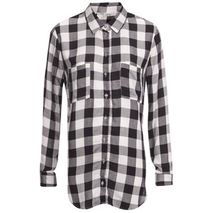 ONLY Women's Hayley Loose Check Shirt - Black