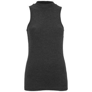 ONLY Women's Brooks Rib Turtleneck Top - Dark Grey