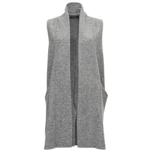 VILA Women's Liana Long Waistcoat - Light Grey