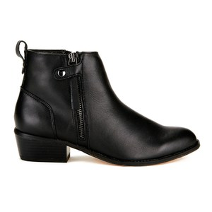 Ravel Women's Riverside Leather Ankle Boots - Black
