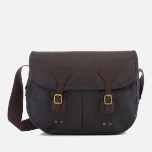 Barbour Men's Wax Leather Tarras Messenger Bag - Navy
