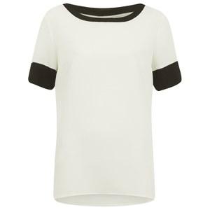 Vero Moda Women's Smooth Short Sleeve Top - Snow White