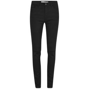 Vero Moda Women's Seven Slim Ripped Jeans - Black