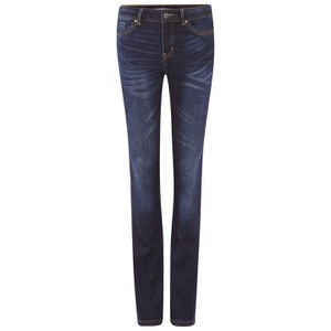 Vero Moda Women's Denim Slim Bootcut Jeans - Dark Blue Denim