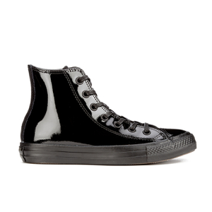Converse Women's Chuck Taylor All Star Patent Leather Hi-Top Trainers - Black