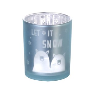 Parlane Let It Snow Tea Light Holder - White