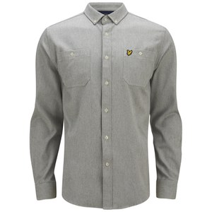 Lyle & Scott Vintage Men's Long Sleeve Flannel Overshirt - Graphite