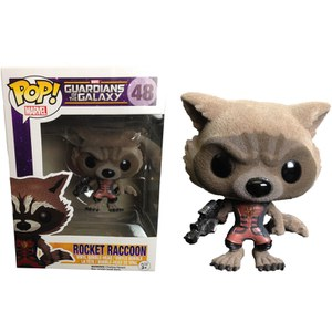 Marvel Guardians of the Galaxy Flocked Ravager Tocket Raccoon Exclusive Pop! Vinyl Figure