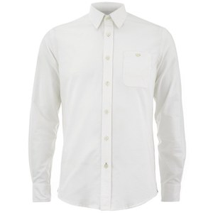 Knutsford x Tripl Stitched Men's Long Sleeve Oxford Shirt - Cream