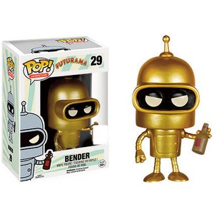 Futurama Golden Bender SDCC Exclusive Pop! Vinyl Figur