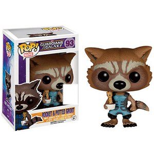 Marvel Guardians Of The Galaxy Rocket Raccoon Holding Baby Groot SDCC Exclusive Pop! Vinyl Figure