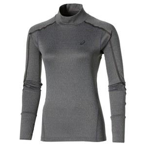 Asics Women's Lite Show Long Sleeve Neck Running Top - Dark Grey Heather
