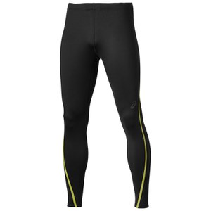 Asics Men's Lite Show Winter Running Tights - Performance Black/Safety Yellow