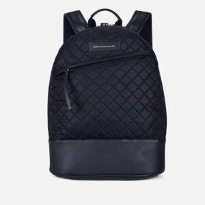 WANT LES ESSENTIELS Men's Kastrup Backpack - Navy Quilt
