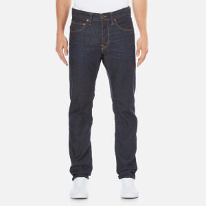 Edwin Men's ED55 Relaxed Tapered Glazed Used Wash Denim Jeans - Blue