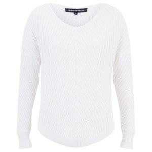 French Connection Women's Winter Mozart Dropped Jumper - Winter White